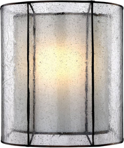 Elk Lighting Mirage 1-Light Wall Sconce Tiffany Bronze/Off-White/Seedy Glass 702231