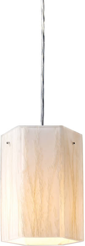 "6""w Modern Organics 1-Light Pendant Polished Chrome"