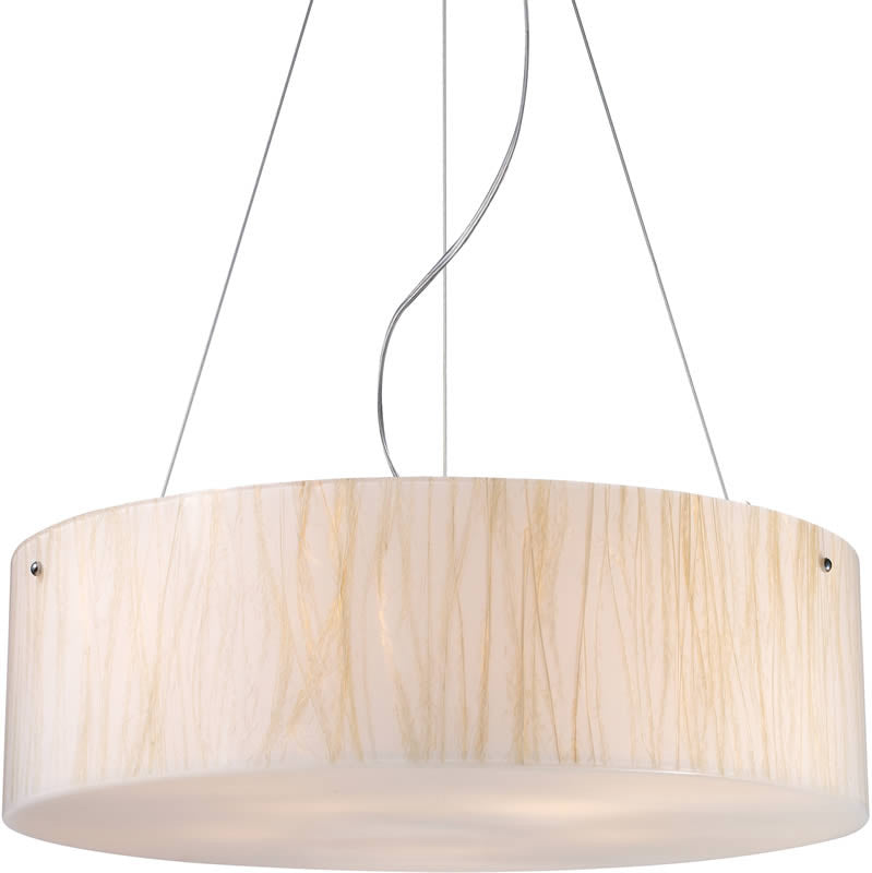 "24""w Modern Organics 5-Light Pendant Polished Chrome"