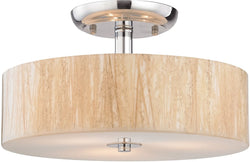 Elk Lighting Modern Organics 3-Light Semi Flush Mount Polished Chrome 19038/3