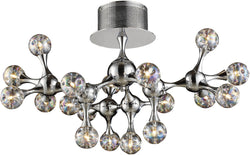 Elk Lighting Molecular 18-Light Semi Flush Mount Polished Chrome with Rainbow Glass 3002618