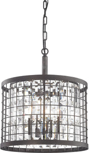 Elk Lighting Nadina 4-Light Chandelier Silverdust Iron 14342/4