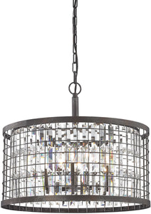 Elk Lighting Nadina 6-Light Chandelier Silverdust Iron 14344/6