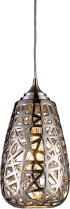 Elk Lighting Nestor 1-Light Pendant Chrome with Cream Glass 200641