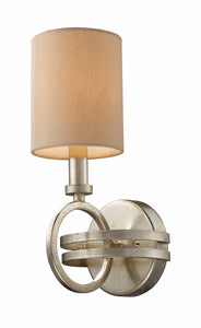 Elk Lighting New York 1-Light Wall Sconce Renaissance Silver with Egg-Shell Glass 310101