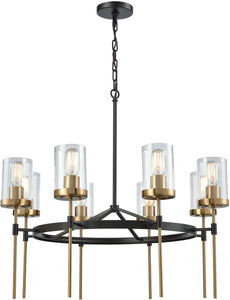 Elk Lighting North Haven 8-Light Chandelier Oil Rubbed Bronze/Satin Brass Accents 145548
