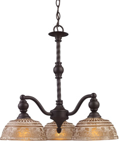 "21""w Norwich 3-Light Chandelier Oiled Bronze"