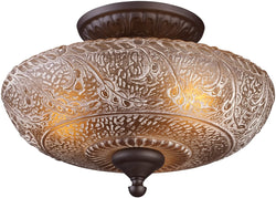 Elk Lighting Norwich 3-Light Semi Flush Oiled Bronze 661913