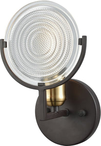 Elk Lighting Ocular 1-Light Vanity Oil Rubbed Bronze/Satin Brass Accents 145001
