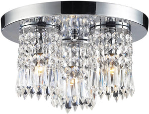 "12""W Optix 3-Light Flush Mount Polished Chrome"