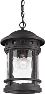 Elk Lighting 9 inchw 1-Light Outdoor Pendant Polished Nickel 451131