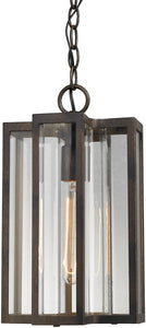 "8""w 1-Light Outdoor Pendant White"