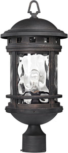 Elk Lighting 20 inchh 1-Light Outdoor Post Lantern Polished Chrome 451141