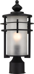 Elk Lighting 15 inchh 1-Light Outdoor Post Lantern Satin Nickel 462521