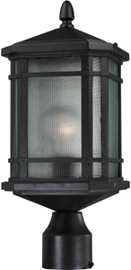 "17""h 1-Light Outdoor Post Lantern Satin Nickel"