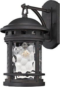 Elk Lighting 17 inchh 1-Light Outdoor Wall Lantern Polished Chrome 451111