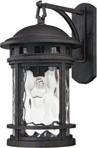 Elk Lighting 20 inchh 1-Light Outdoor Wall Lantern Polished Nickel 451121
