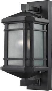 "13""h 1-Light Outdoor Wall Lantern Aged Silver"
