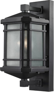 Elk Lighting 17 inchh 1-Light Outdoor Wall Lantern Aged Silver 870411