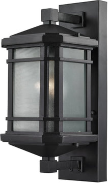 "17""H 1-Light Outdoor Wall Lantern Matte Black"