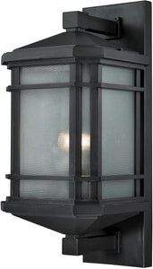 "20""h 1-Light Outdoor Wall Lantern Aged Silver"