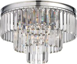 Elk Lighting Palacial 3-Light Semi Flush Mount Polished Chrome 15215/3