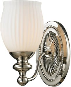 Elk Lighting Park Ridge 1-Light Bath Light Polished Nickel 11640/1