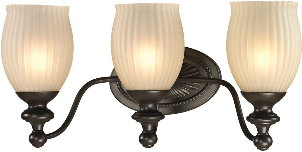 "19""W Park Ridge 3-Light Bath Light Oil Rubbed Bronze"