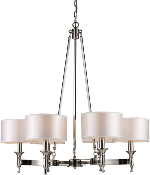 Elk Lighting Pembroke 6-Light Chandelier Polished Nickel 101236