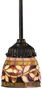 Elk Lighting Mix-N-Match 1-Light Pendant Tiffany Bronze 078TB13