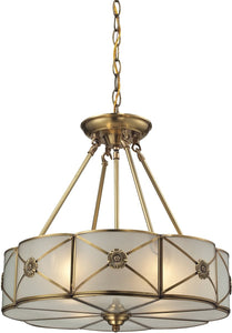 Elk Lighting 18 inchw 4-Light Pendant Polished Chrome 220044