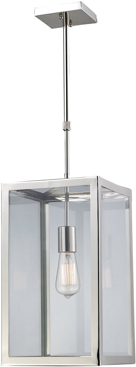 "10""W Parameters-Nickel 1-Light Pendant Polished Chrome"