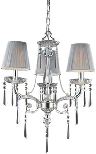 "20""w Princess 3-Light Chandelier Polished Silver"