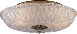 "15""w Providence 2-Light Flush Mount Antique Silver Leaf"