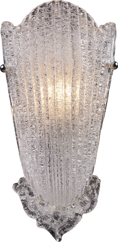 "8""w Providence 1-Light Wall Sconce Antique Silver Leaf"