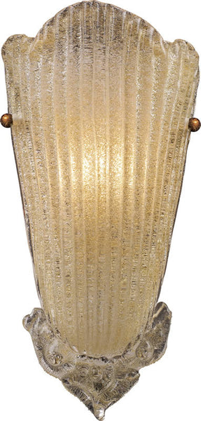 "8""w Providence 1-Light Wall Sconce Antique Gold Leaf"