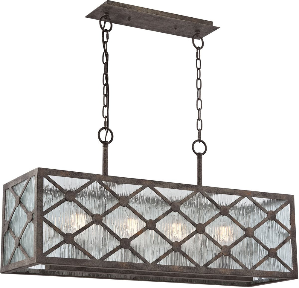 "33""W Radley 4-Light Island Chandelier Malted Rust"