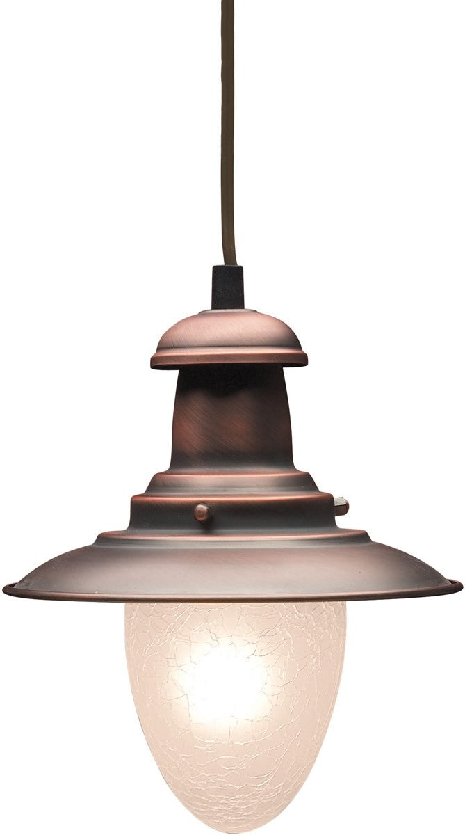 "7""W Railroad 1-Light Pendant Antique Copper"