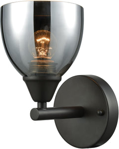 Reflections 1-Light Vanity Oil Rubbed Bronze/Chrome Plated Glass