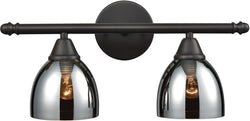 Elk Lighting Reflections 2-Light Vanity Oil Rubbed Bronze/Chrome Plated Glass 102712
