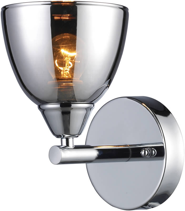 "5""W Reflections 1-Light Wall Sconce Polished Chrome"