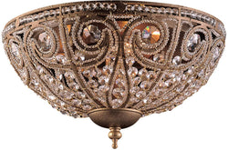 "13""w Elizabethan 3-Light Flush Mount Dark Bronze"