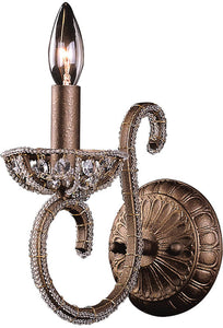 "5""w Elizabethan 1-Light Wall Sconce Dark Bronze"