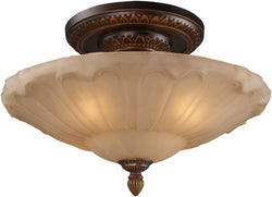 Elk Lighting Restoration 4-Light Semi Flush Golden Bronze 08093AGB