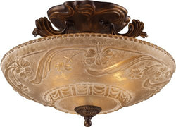 Elk Lighting Restoration 3-Light Semi Flush Golden Bronze 08101AGB