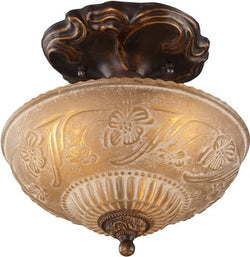 Elk Lighting Restoration 3-Light Semi Flush Golden Bronze 08103AGB