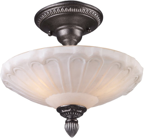 Elk Lighting Restoration 3-Light Semi Flush Dark Silver 660923