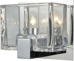 Ridgecrest 1-Light Vanity Polished Chrome/Clear Cast Glass