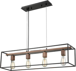 Elk Lighting Rigby 4-Light Chandelier Oil Rubbed Bronze/Tarnished Brass 144624