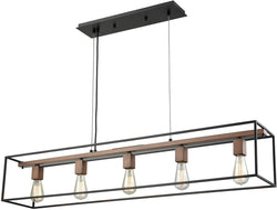 Rigby 5-Light Chandelier Oil Rubbed Bronze/Tarnished Brass